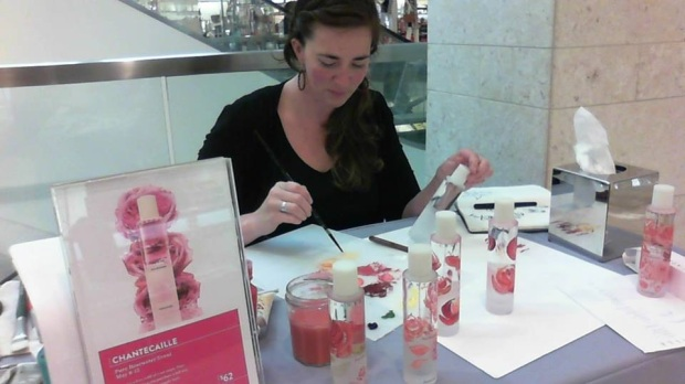 Live painting for Chantecaille at Nordstrom