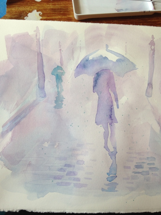 Live painting from London Rain Launch party